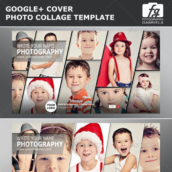 Google+ Photo Collage Photoshop Template