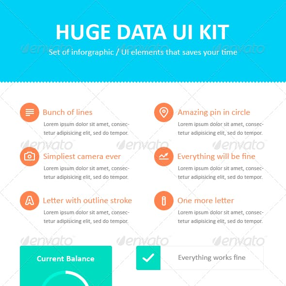 Huge Infogrpahic / UI Elements Kit