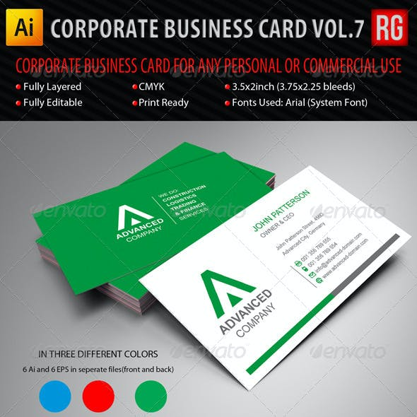 Corporate Business Card Vol.7