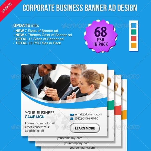 Corporate Business Banner Ad Design