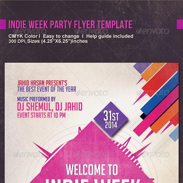 Indie Week Party Flyer Template