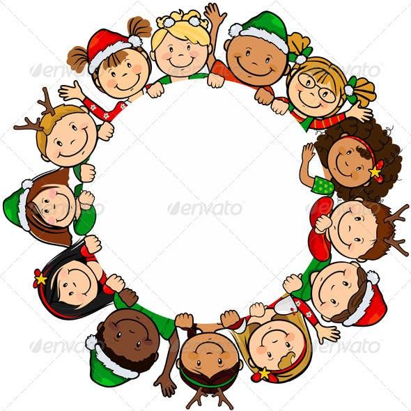Children Christmas Circle