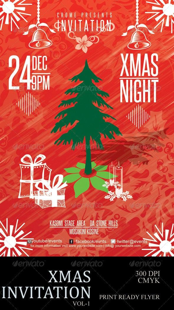Retro Christmas Flyer - Holidays Events