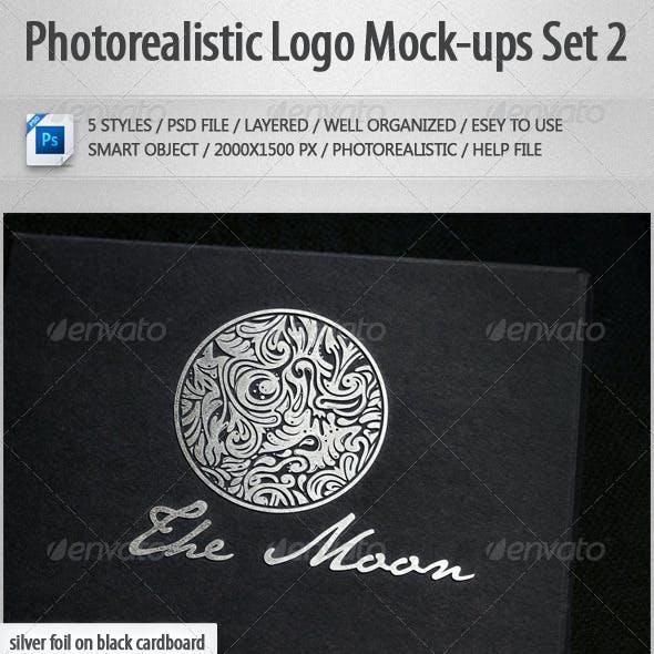 5 Photorealistic Logo Mock-Ups Set 2