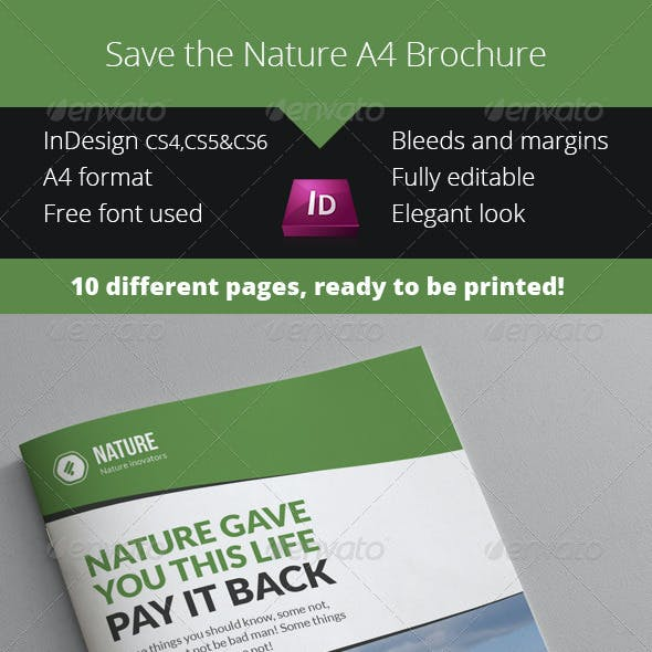 Nature Ecology A4 Brochure