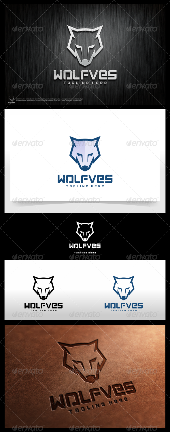 Wolfves Logo Template - Animals Logo Templates