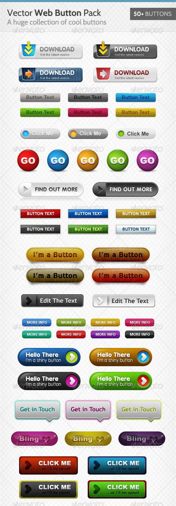 (Yet Another) Huge Button Pack - Buttons Web Elements