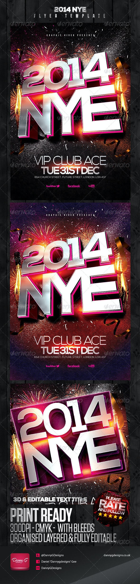 2014 NYE Flyer Template - Clubs & Parties Events