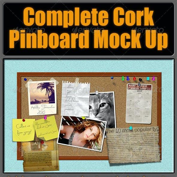 Complete Cork Pinboard Mock Up