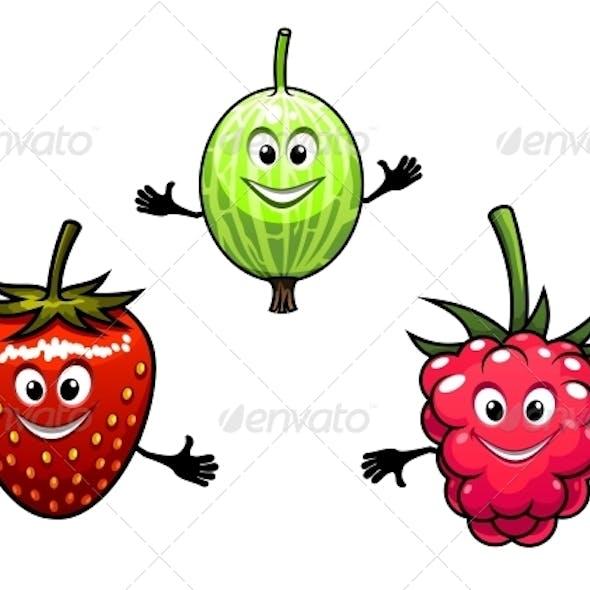 Gooseberry, Raspberry and Strawberry