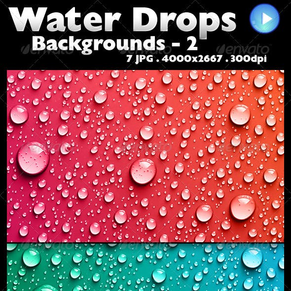Water Drops Backgrounds 2