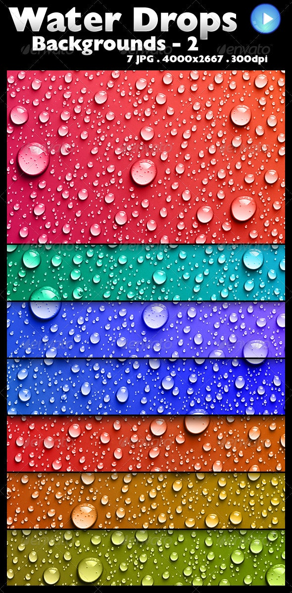 Water Drops Backgrounds 2 - Backgrounds Graphics