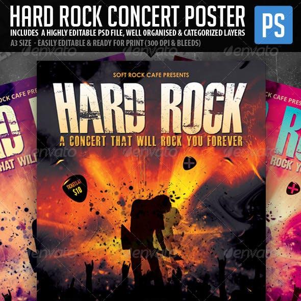 Hard Rock Poster/Flyer Template