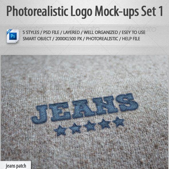 5 Photorealistic Logo Mock-Ups Set 1