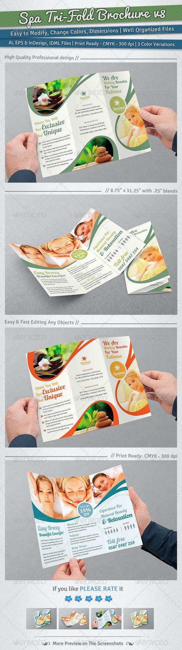 Spa Tri-Fold Brochure   Volume 8 - Corporate Brochures