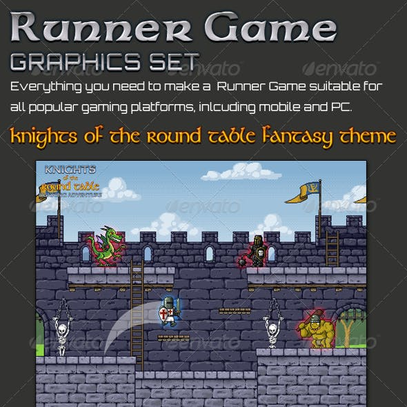 Knights Runner Game Graphic Set