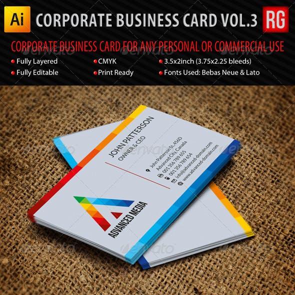 Corporate Business Card Vol.3