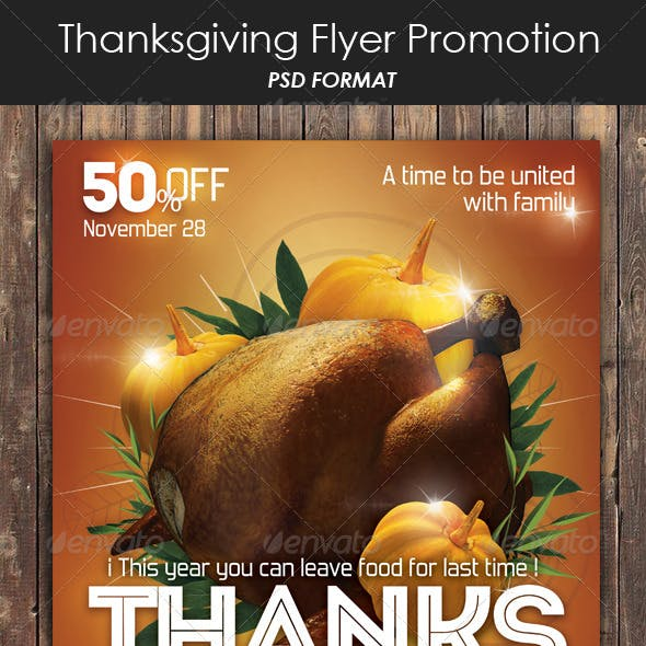 Thanksgiving Flyer Promote