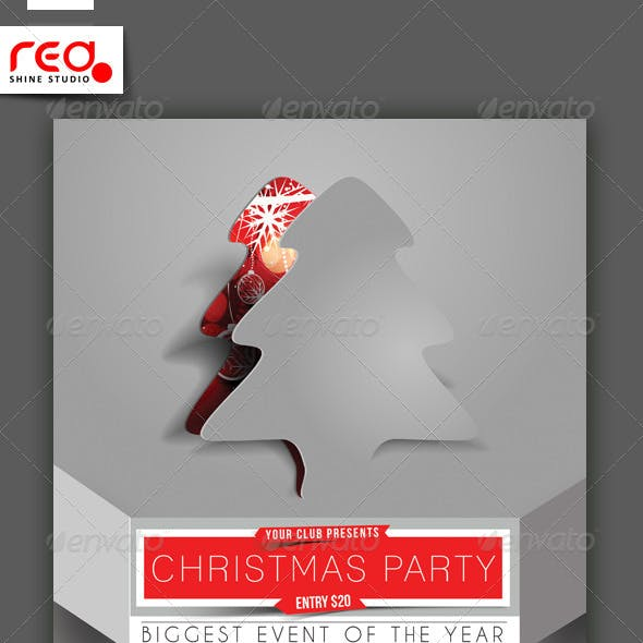 Christmas Party Flyer & Poster Template - 1