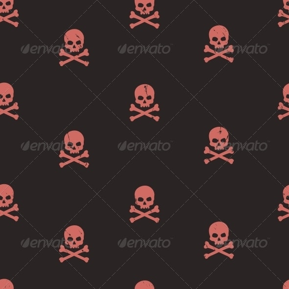Seamless Pattern with Skulls  - Patterns Decorative
