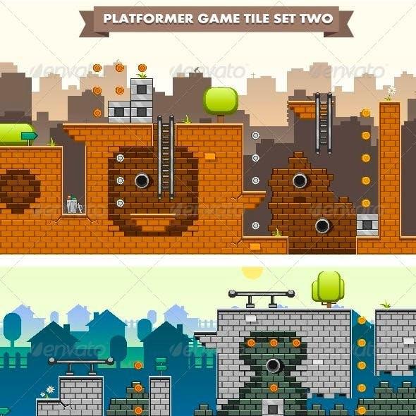 Platformer Game Tile Set Two