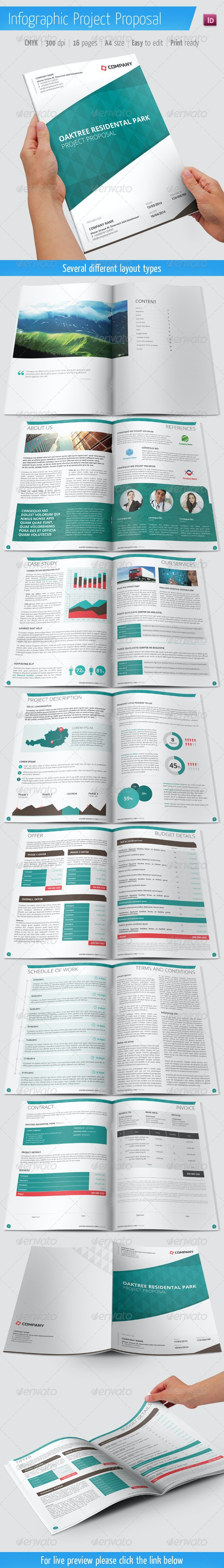 Project Proposal With Infographic Elements - Proposals & Invoices Stationery