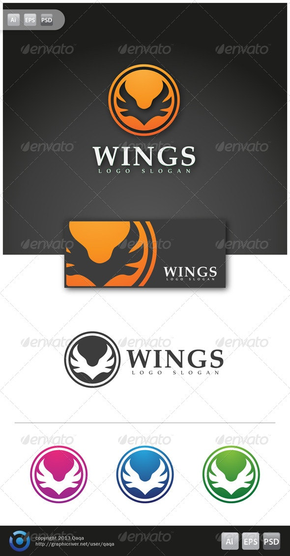 Wings Logo - 02 - Logo Templates