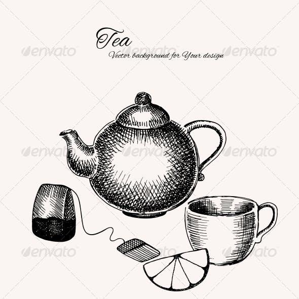 Black and White Tea Background
