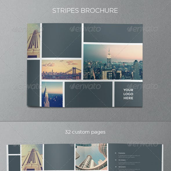 Real Estate Stripes Brochure