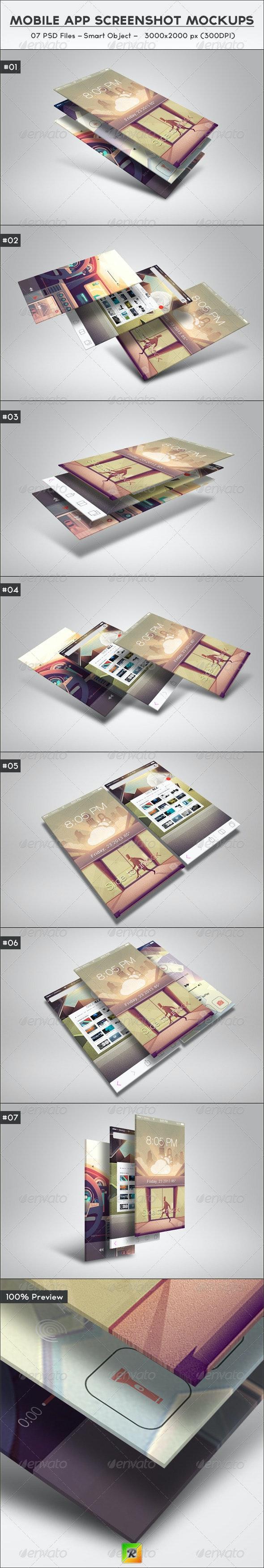 Mobile App Screenshot Mockups - Mobile Displays
