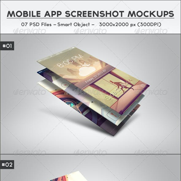 Mobile App Screenshot Mockups