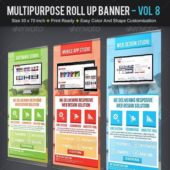 Multipurpose Roll Up Banner | Volume 8