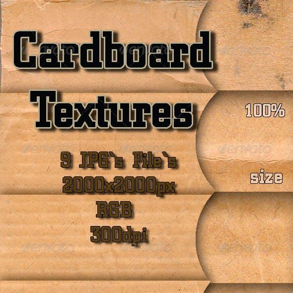 9 Cardboard Textures