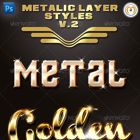 Metalic Layer Styles V.2