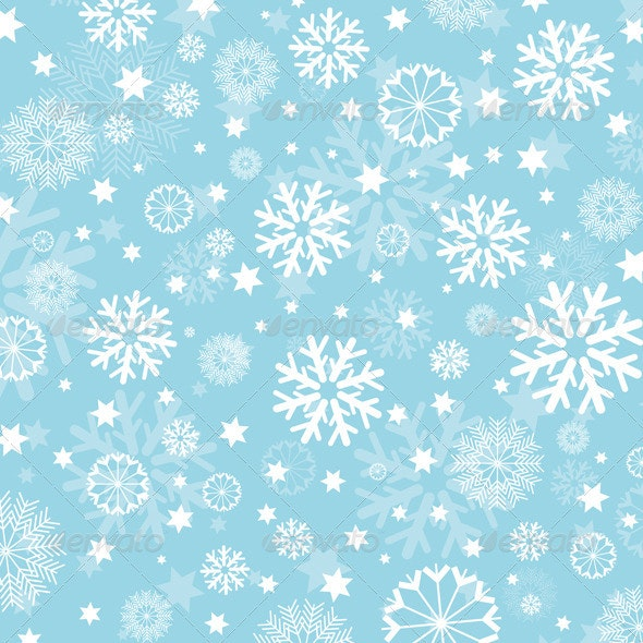 Snowflakes and Stars Background - Christmas Seasons/Holidays