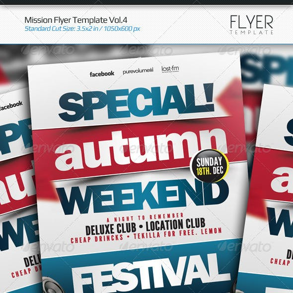 Mission Flyer Template Vol.4