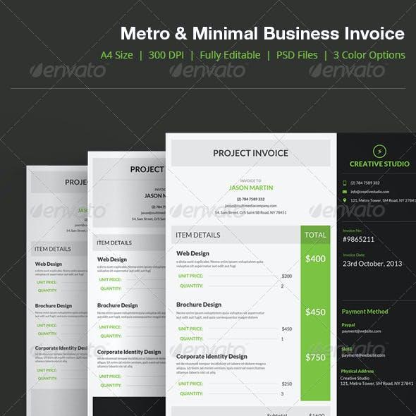 Metro Style Business Invoice - 04