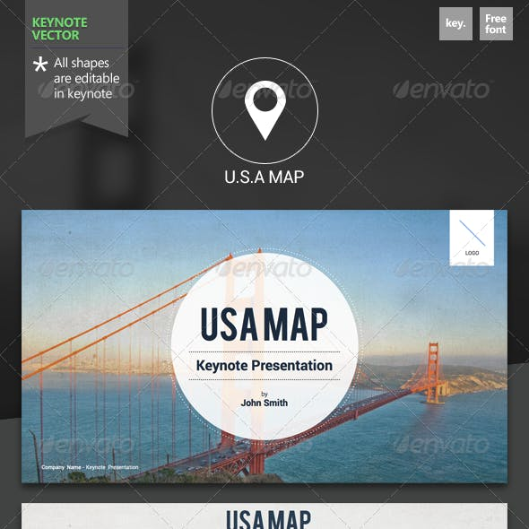 U.S.A Map - Keynote Template