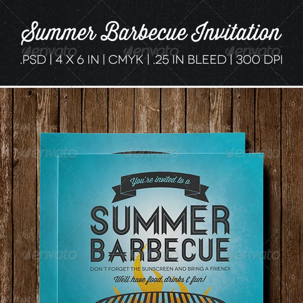 Summer Barbecue Invitation | Flyer