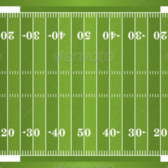 Vector Textured Grass American Football Field