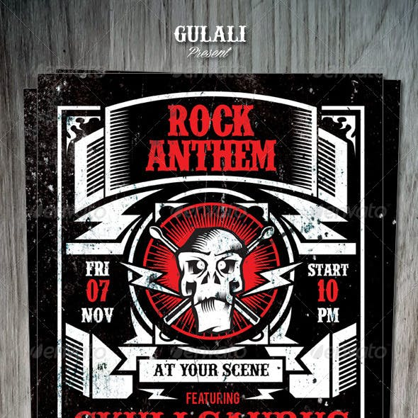 Rockabilly Poster Flyer Template