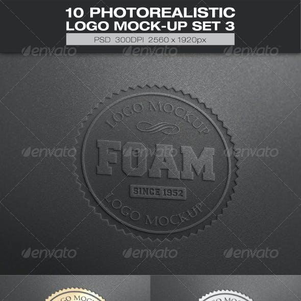 10 Photorealistic Logo Mock-up Set 3