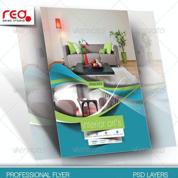 Architecture & Interior Designer Flyer Template