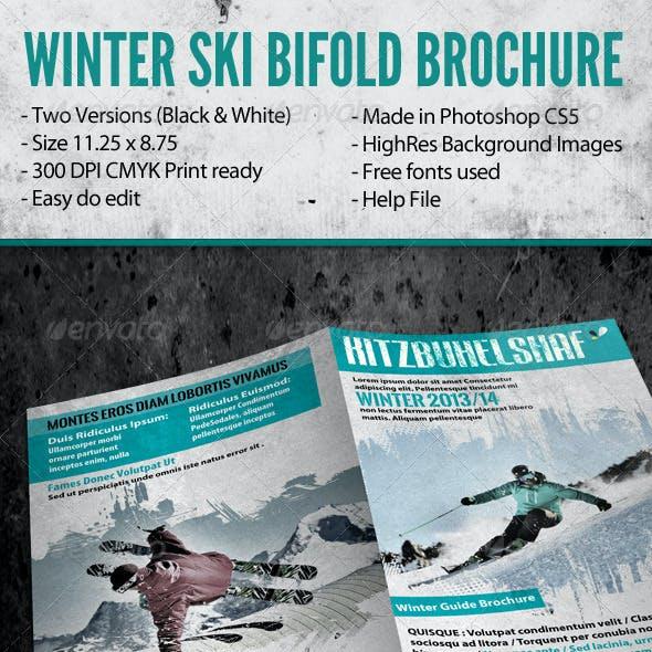 Winter Ski Bifold Brochure
