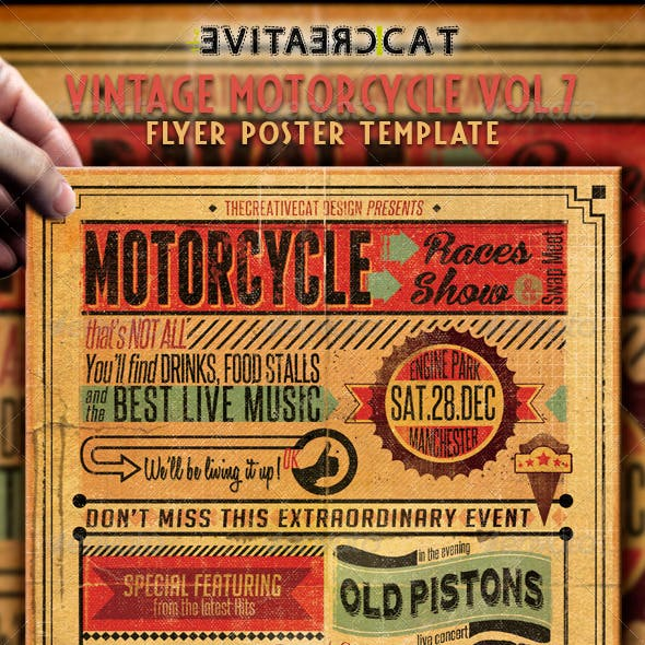 Vintage Motorcycle Flyer/Poster Vol. 7