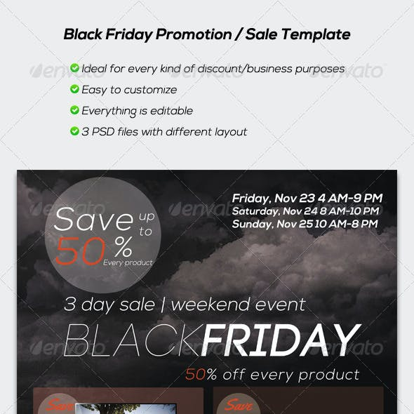 Black Friday Promotion / Sale Flyer Template