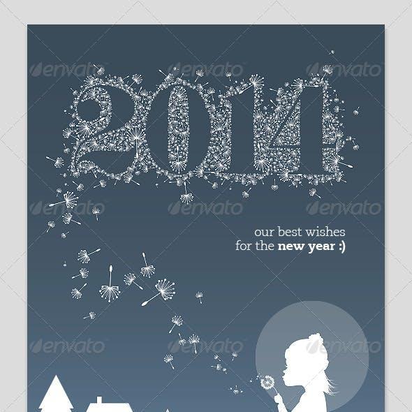 New Year 2014 Card