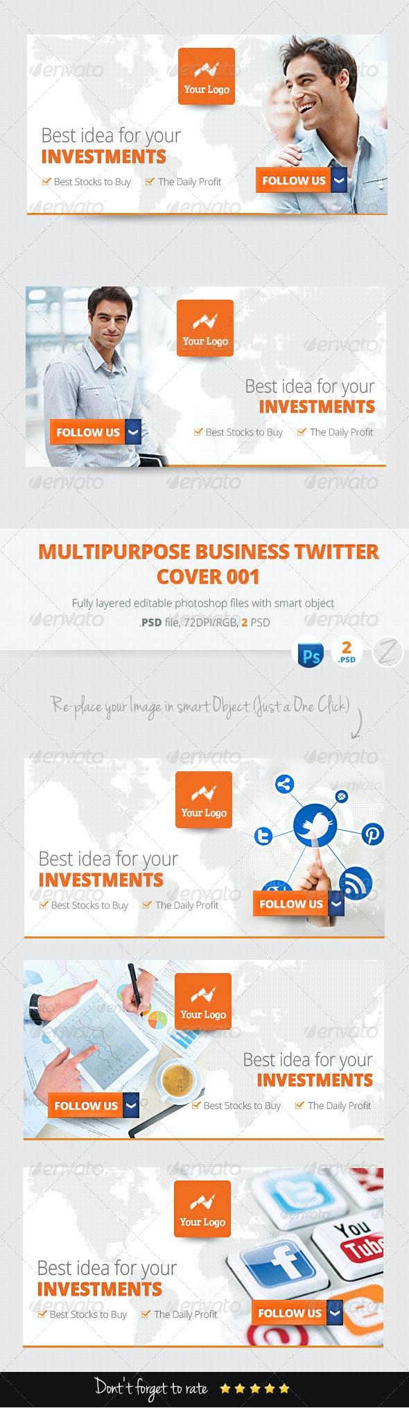 Multipurpose Business Marketing Twitter Cover 001 - Twitter Social Media