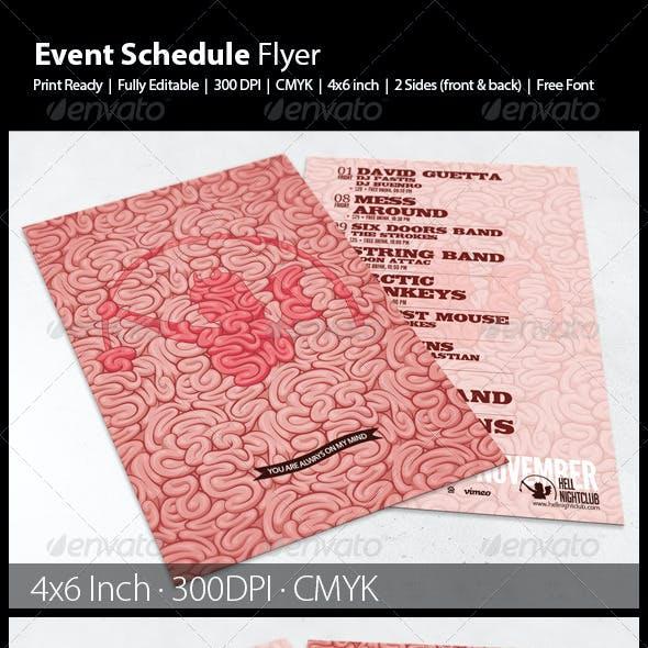 Event Schedule Flyer