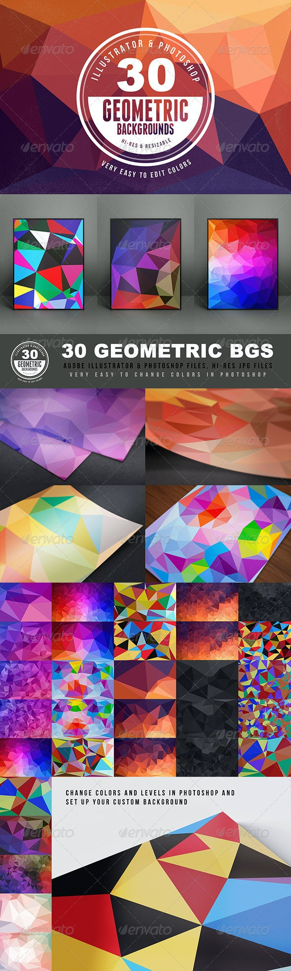 Geometric Backgrounds or Textures - Abstract Backgrounds